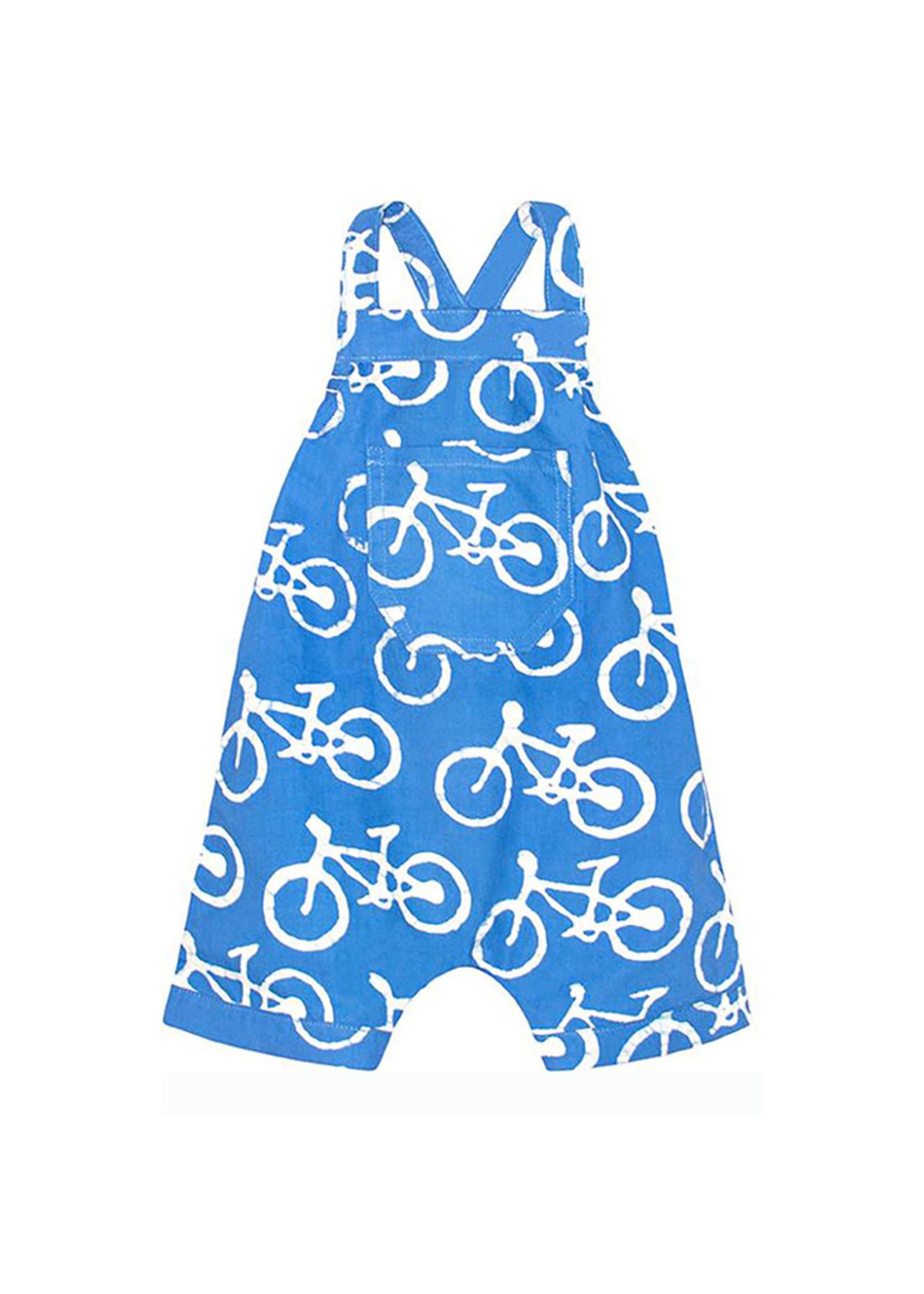 Global Mamas Blue Bikes Baby Romper