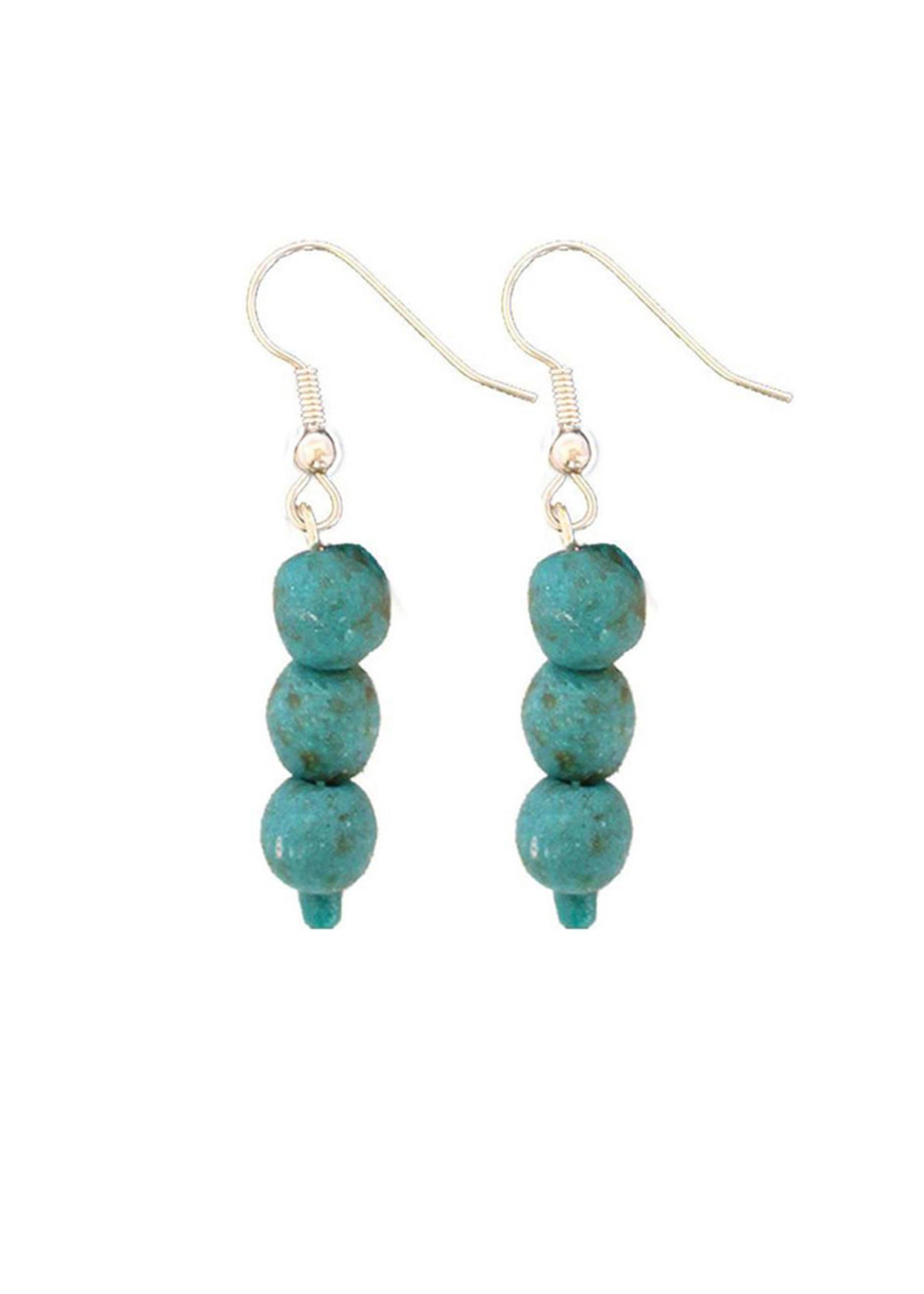 Global Mamas Recycled Glass Pearl Earrings