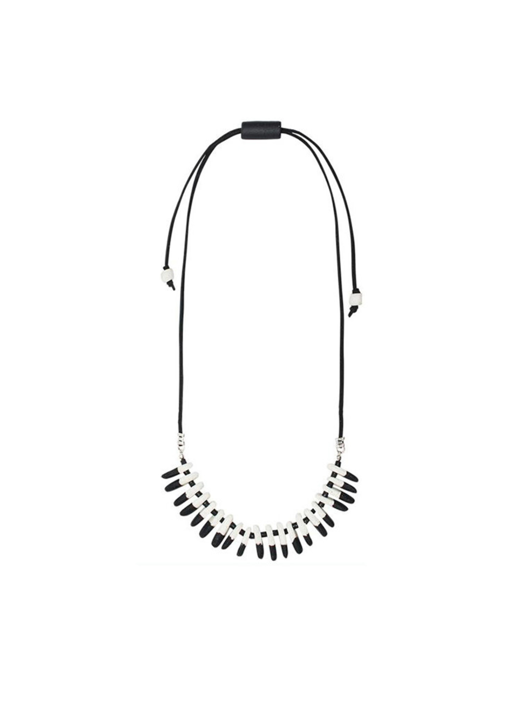 Global Mamas Rhythm Black Necklace