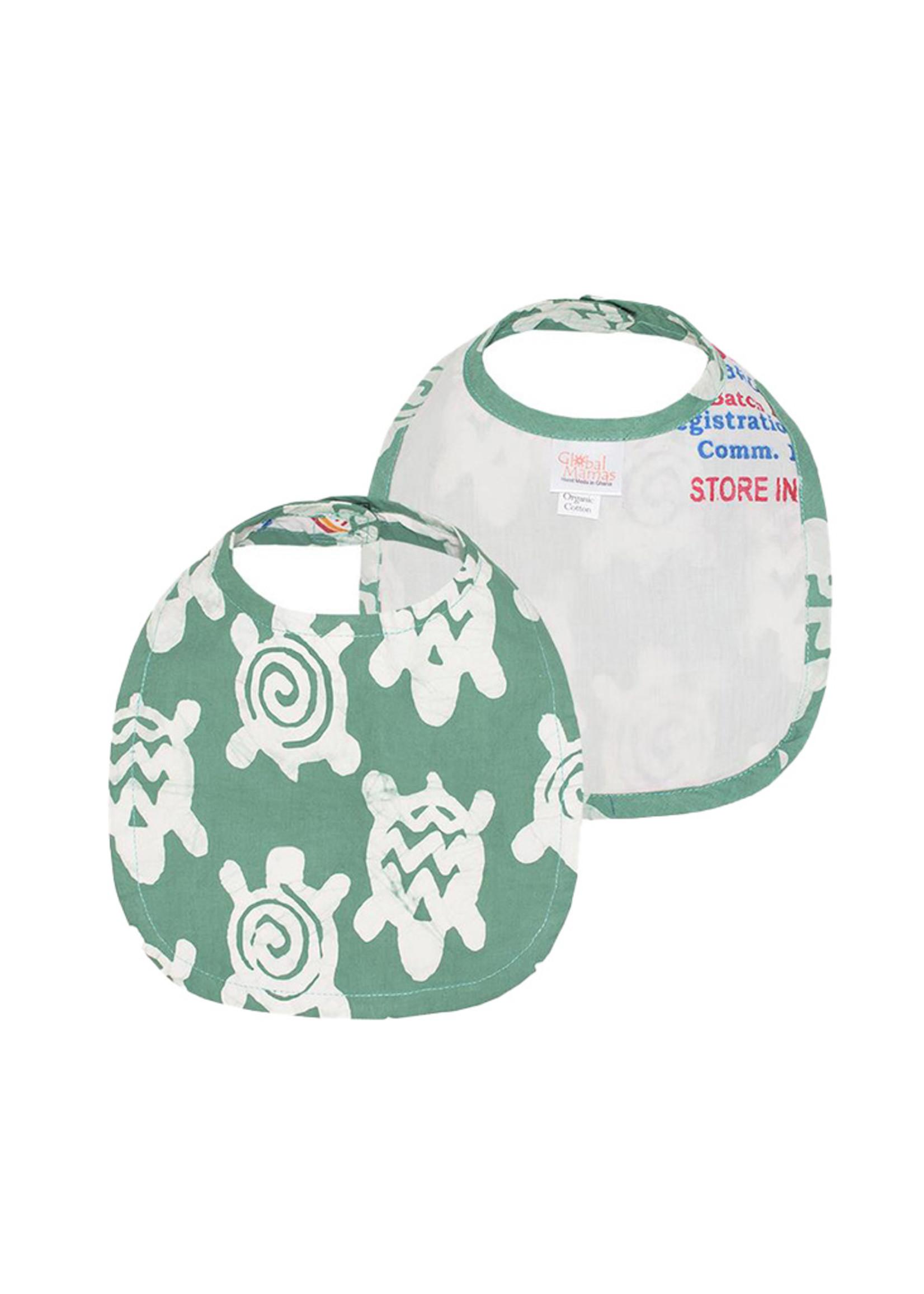 Global Mamas Sage Green Turtle Bib