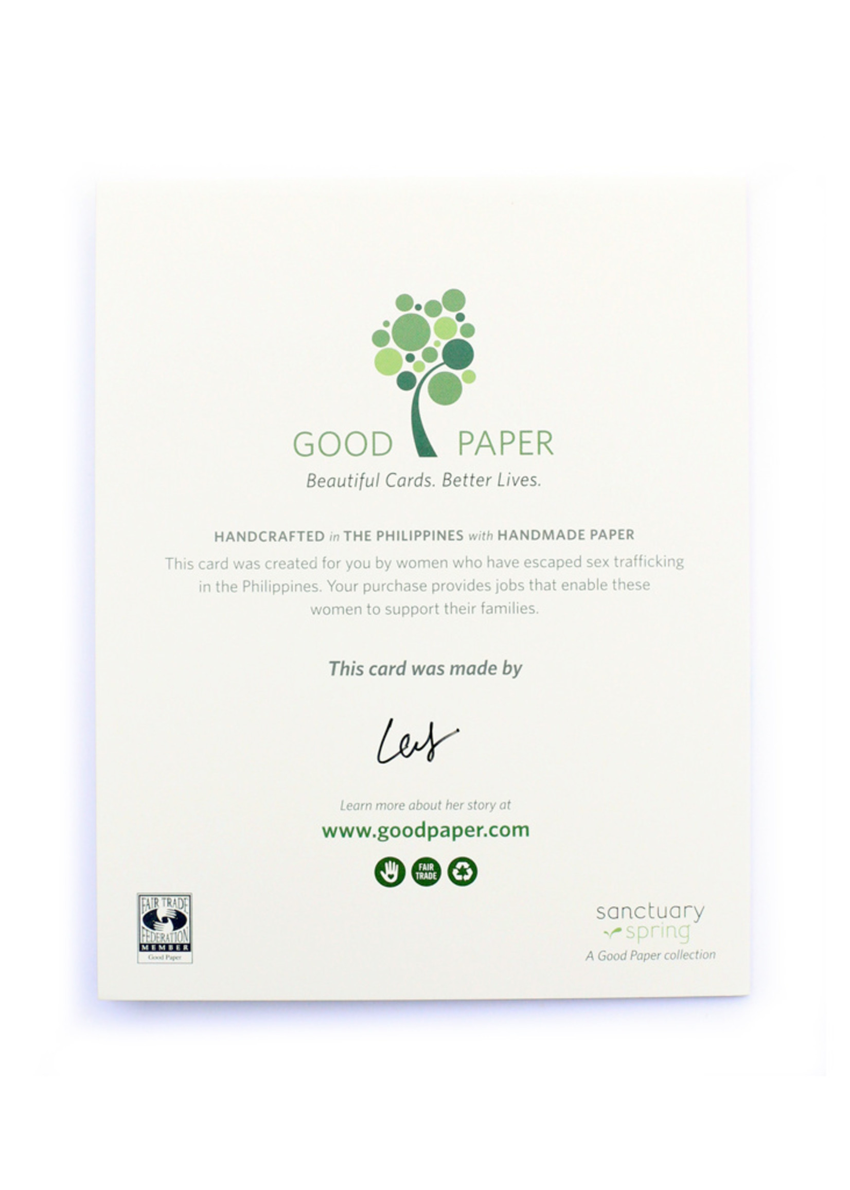 Good Paper Wedding Cans Card