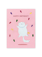 Good Paper Jump for Joy Birthday Card