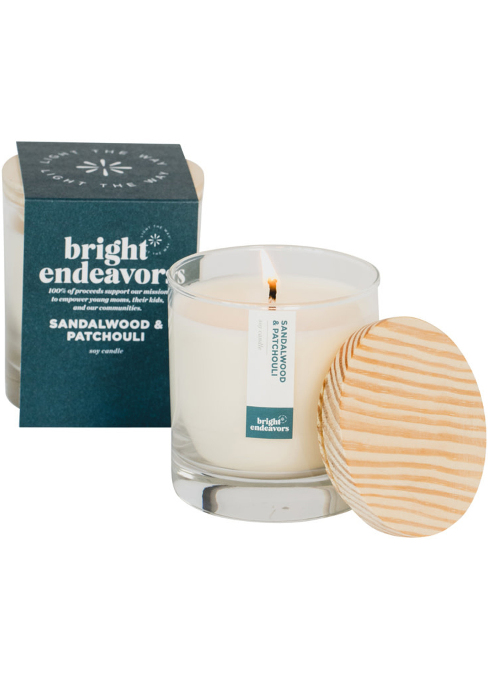 Bright Endeavors Sandalwood & Patchouli Soy Candle