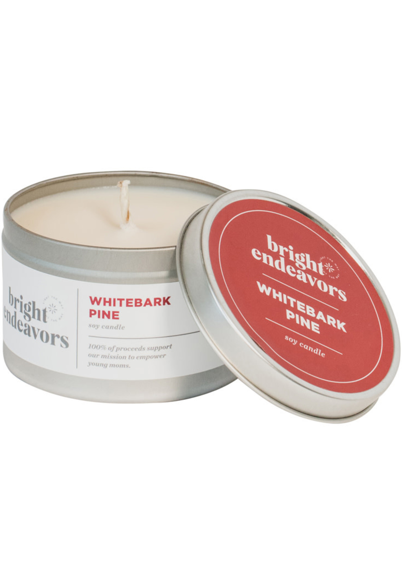 Bright Endeavors White Bark Pine Soy Candle