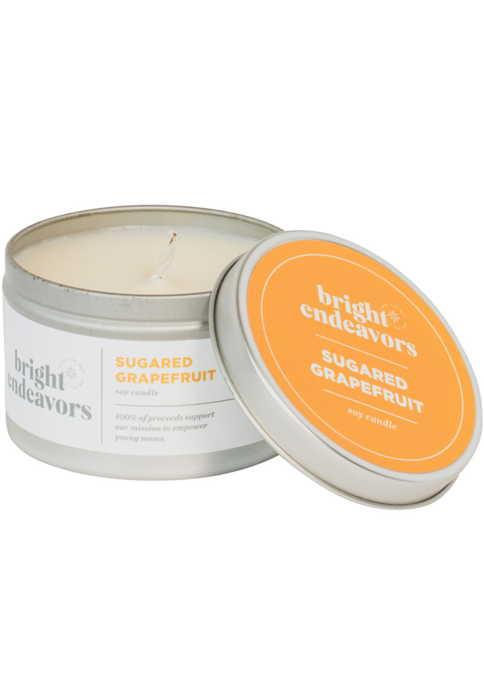 Bright Endeavors Sugared Grapefruit Soy Candle