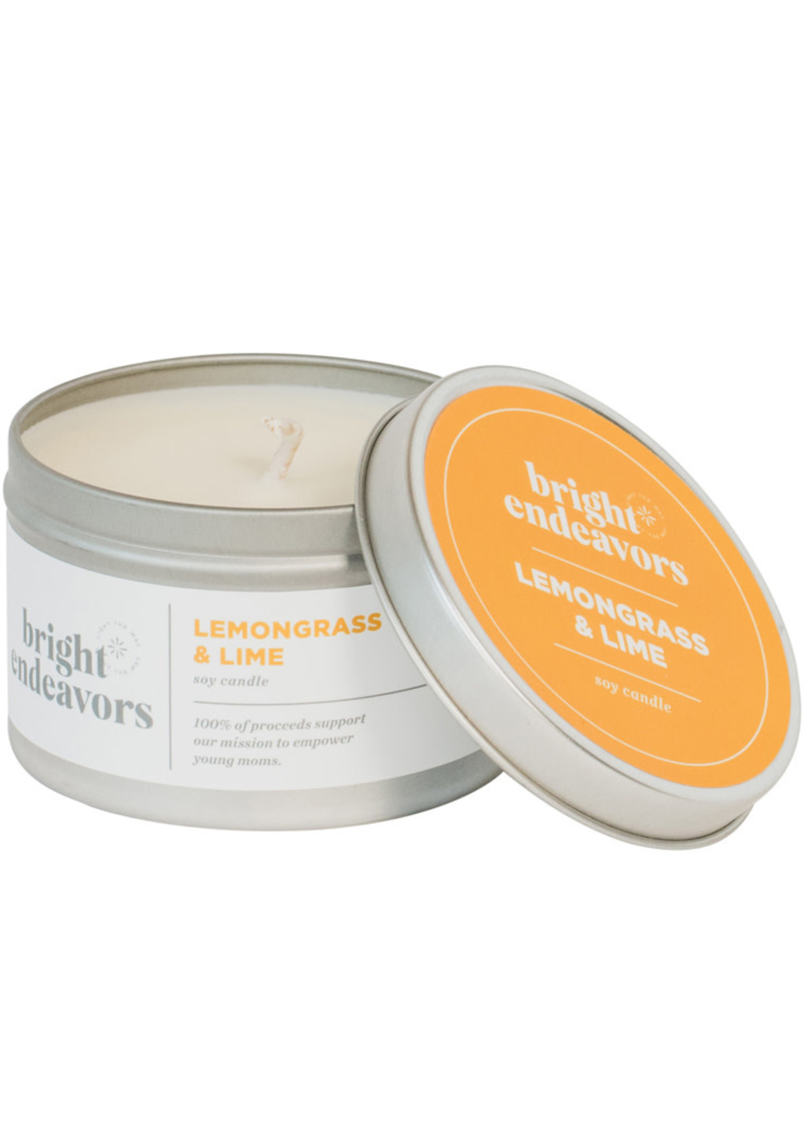 Bright Endeavors Lemongrass & Lime Soy Candle