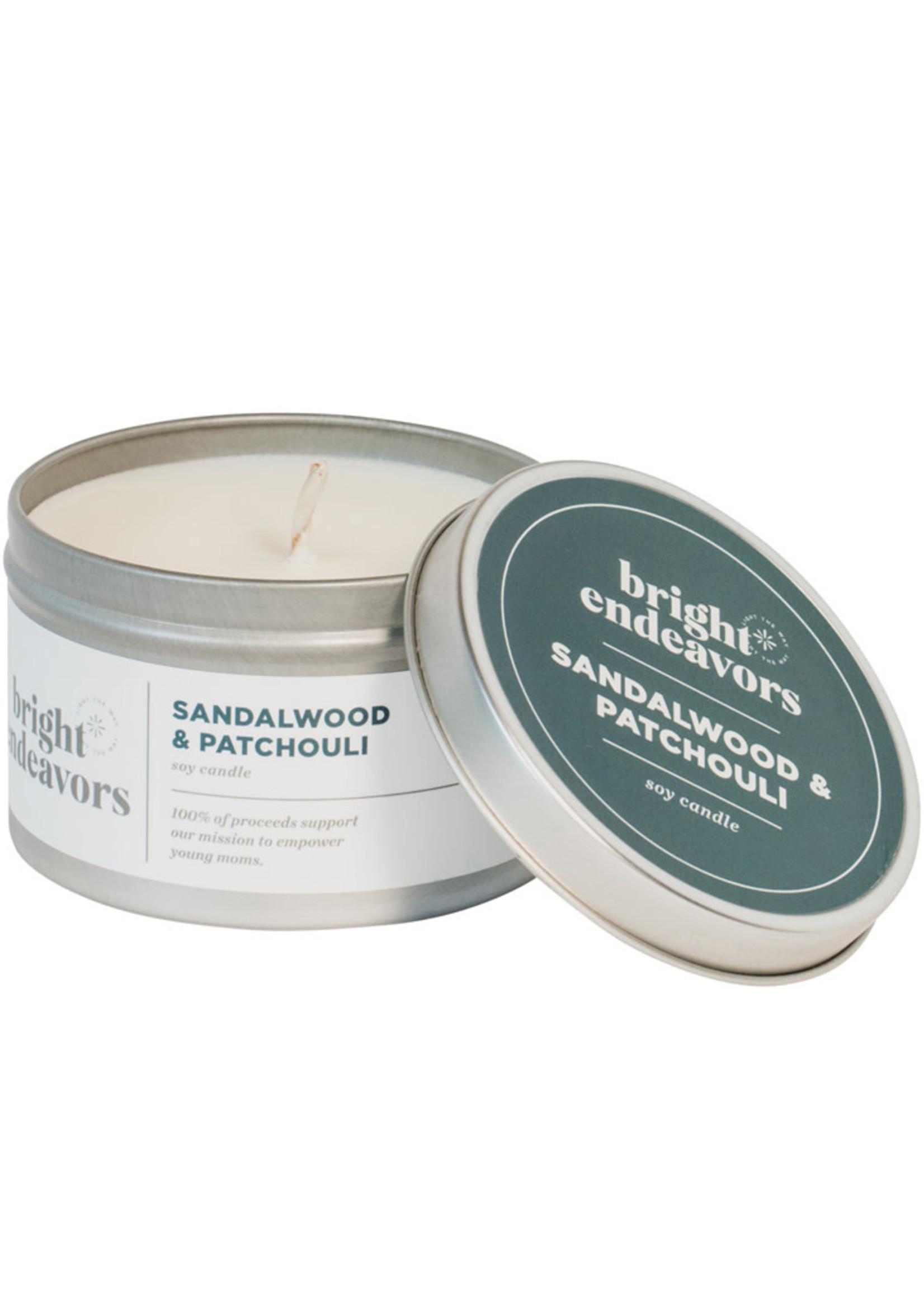 Bright Endeavors Sandalwood & Patchouli Soy Candle