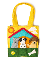 Global Goods Partners Felt Doggy Puppet Bag