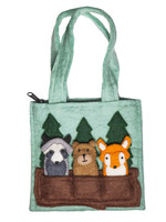 Global Goods Partners Felt Woodland Friends Puppet Bag