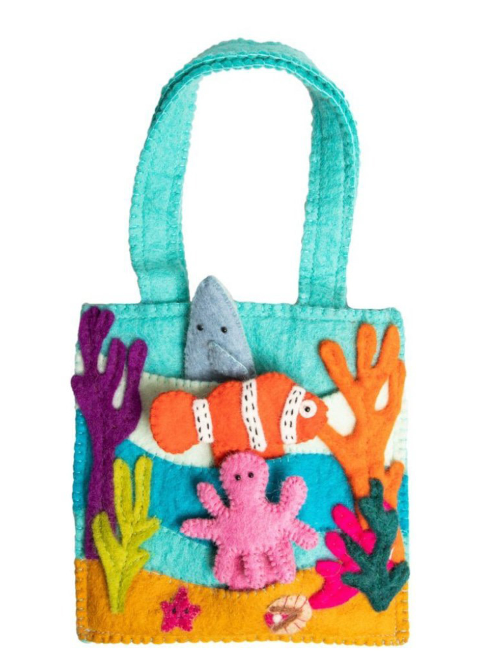 Global Goods Partners Felt Under the Sea Puppet Bag
