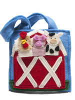 Global Goods Partners Felt Barnyard Puppet Bag