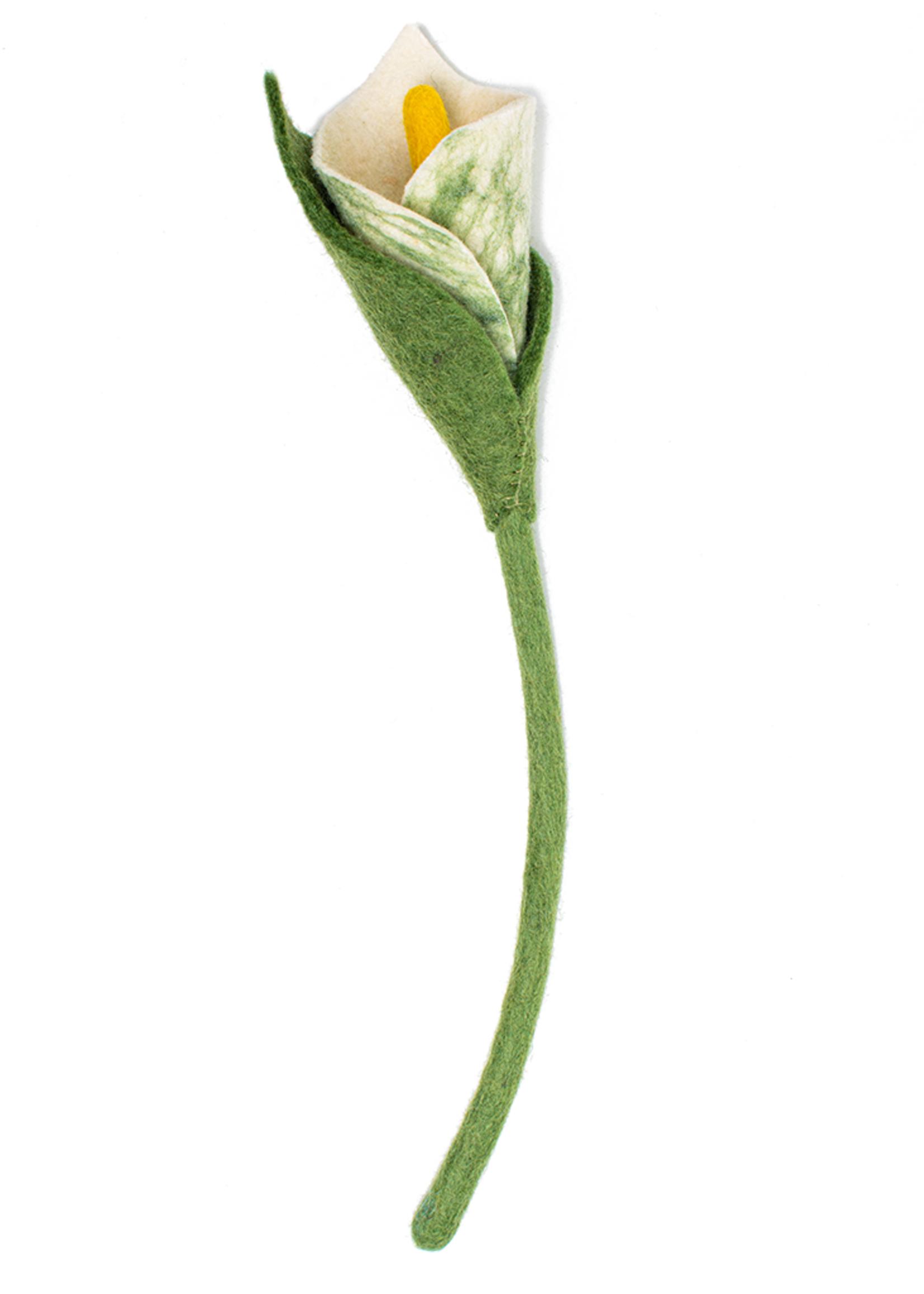 Global Goods Partners Felt Calla Lily Flower