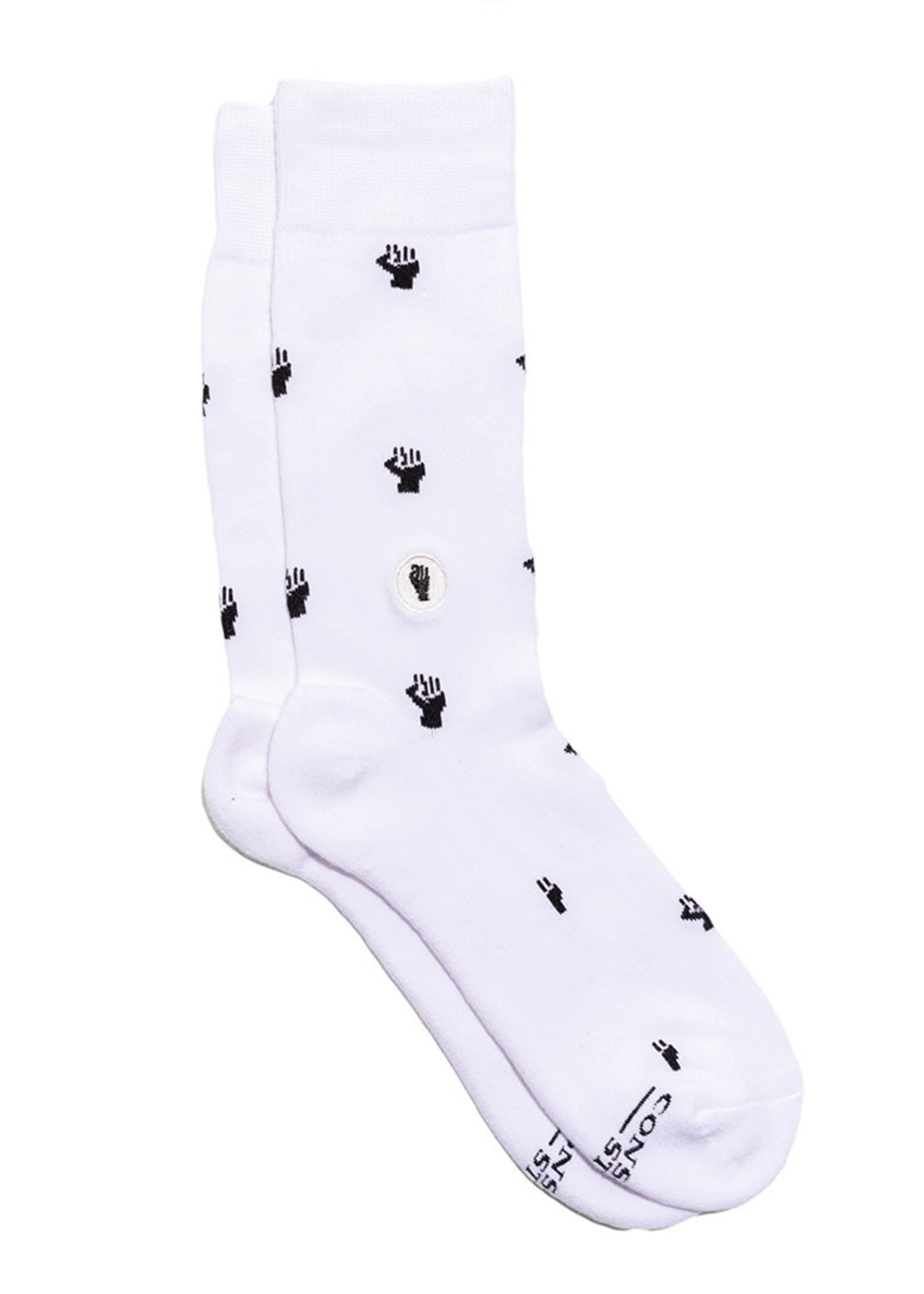 Conscious Step Men's Socks That Fight Equality [white]