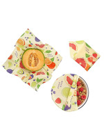 Bee's Wrap Fruit Design Food Wrap Set of 3