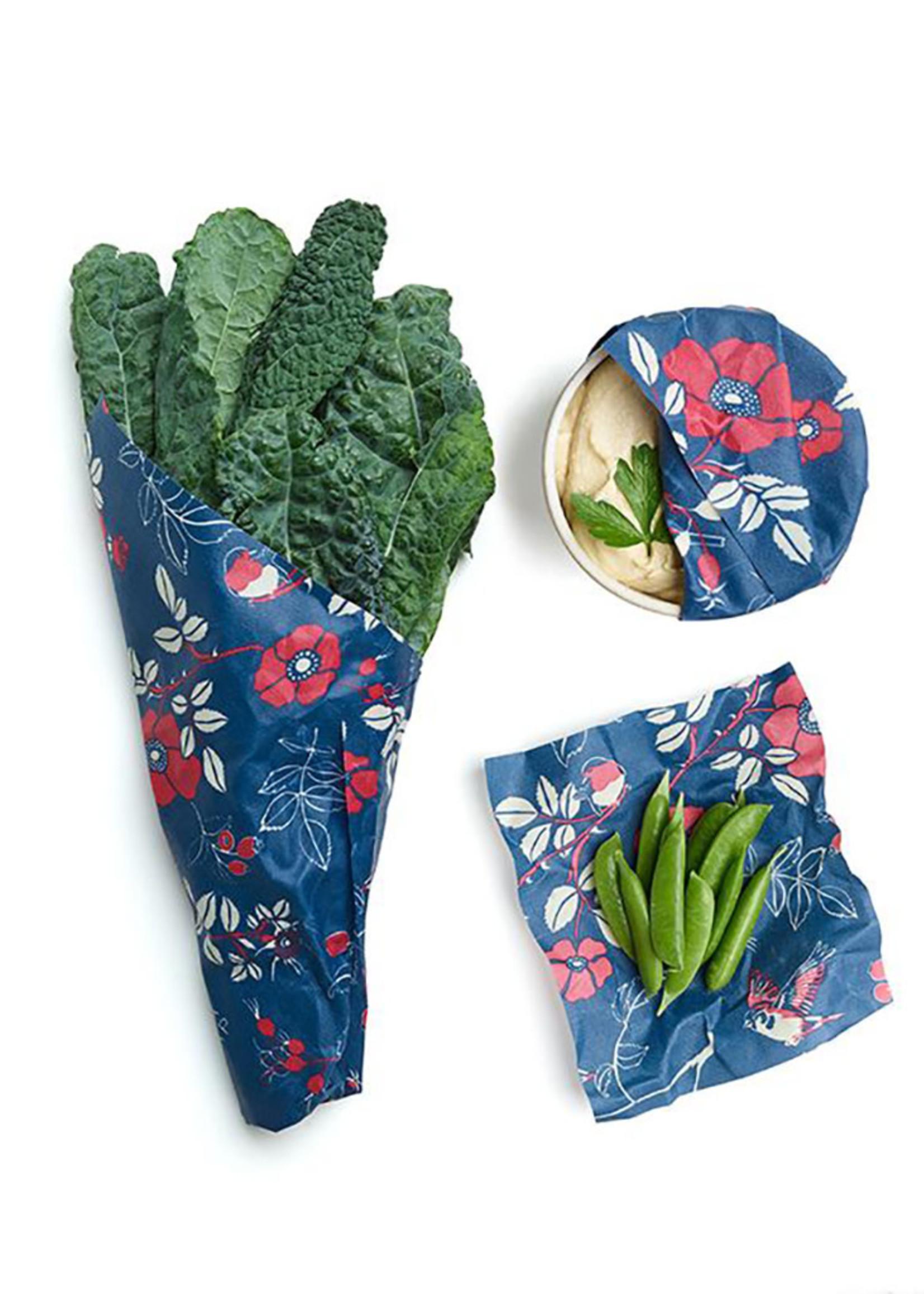 Bee's Wrap Botanical Design Food Wrap Set of 3