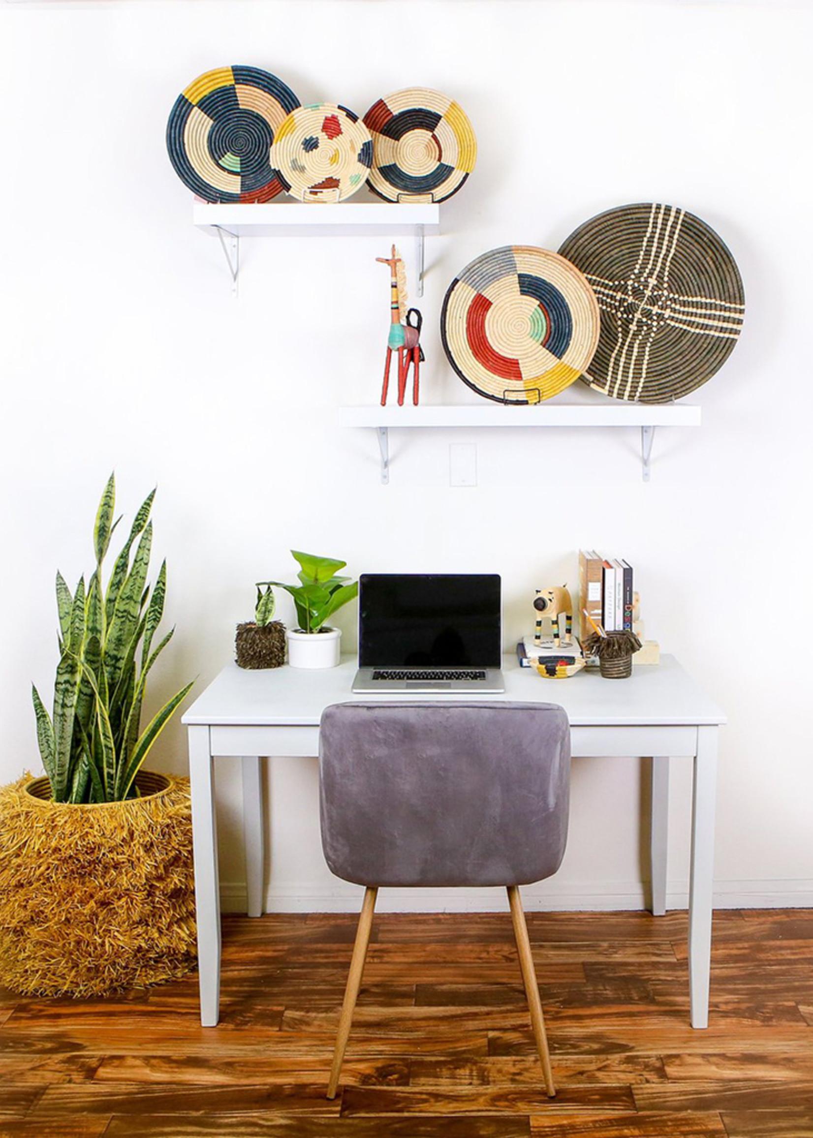"""Kazi 21"""" Cocoa Sanaa Wall Plate"""