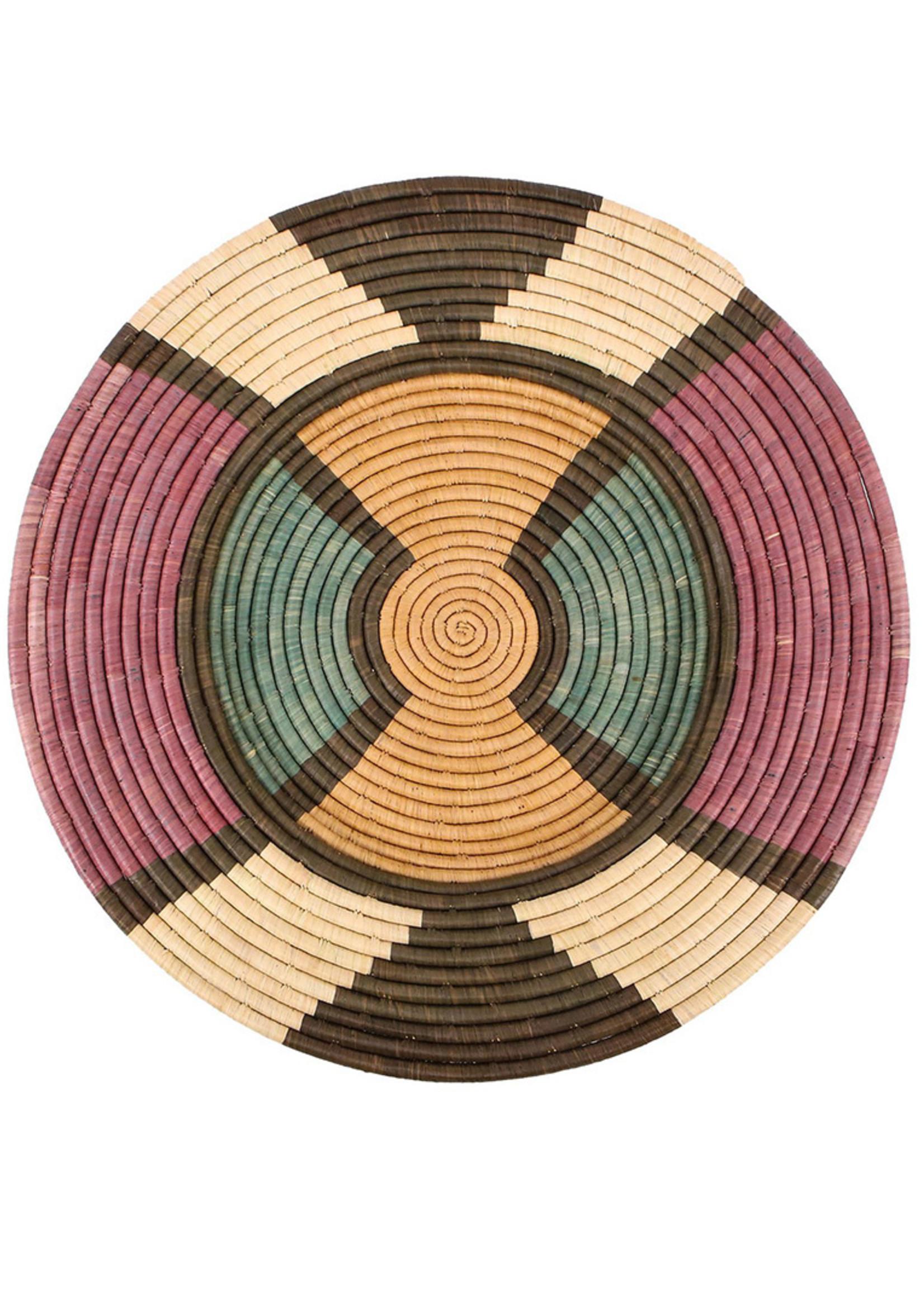 """Kazi 27"""" Plate Lilac + Neutrals Tabia Wall Plate"""