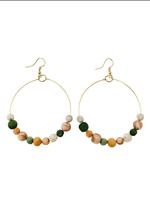 WorldFinds Kantha Terai Hoops Earrings