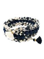 WorldFinds Kantha Indigo Wrap Bracelet