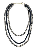 WorldFinds Kantha Indigo Layered Necklace