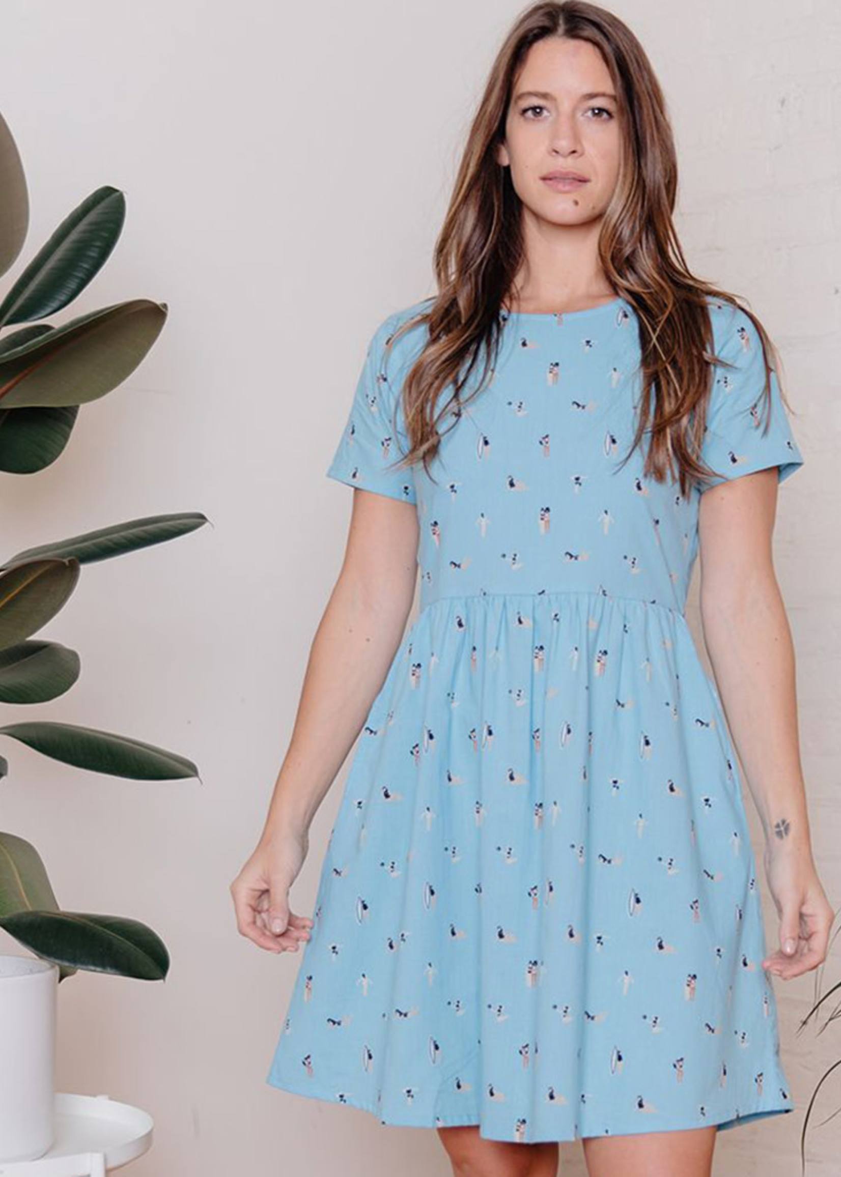 Mata Traders Serenade Blue Swimmers Dress