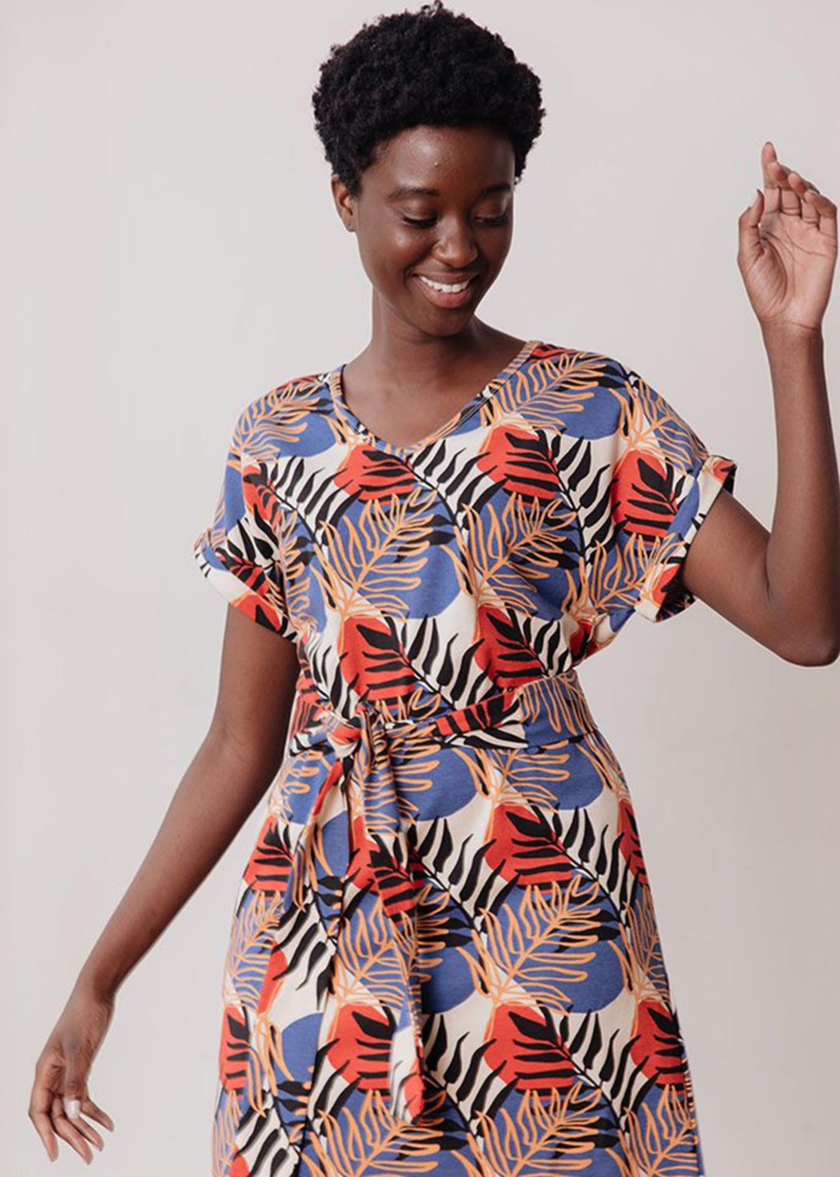 Mata Traders Montrose Palms Peach Dress