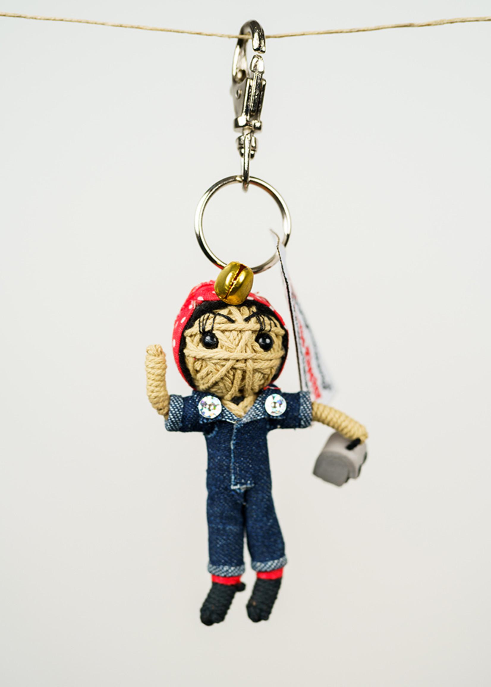 Rosie the Riveter String Doll