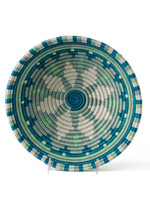 Kazi Medium Teal Burst Round Basket