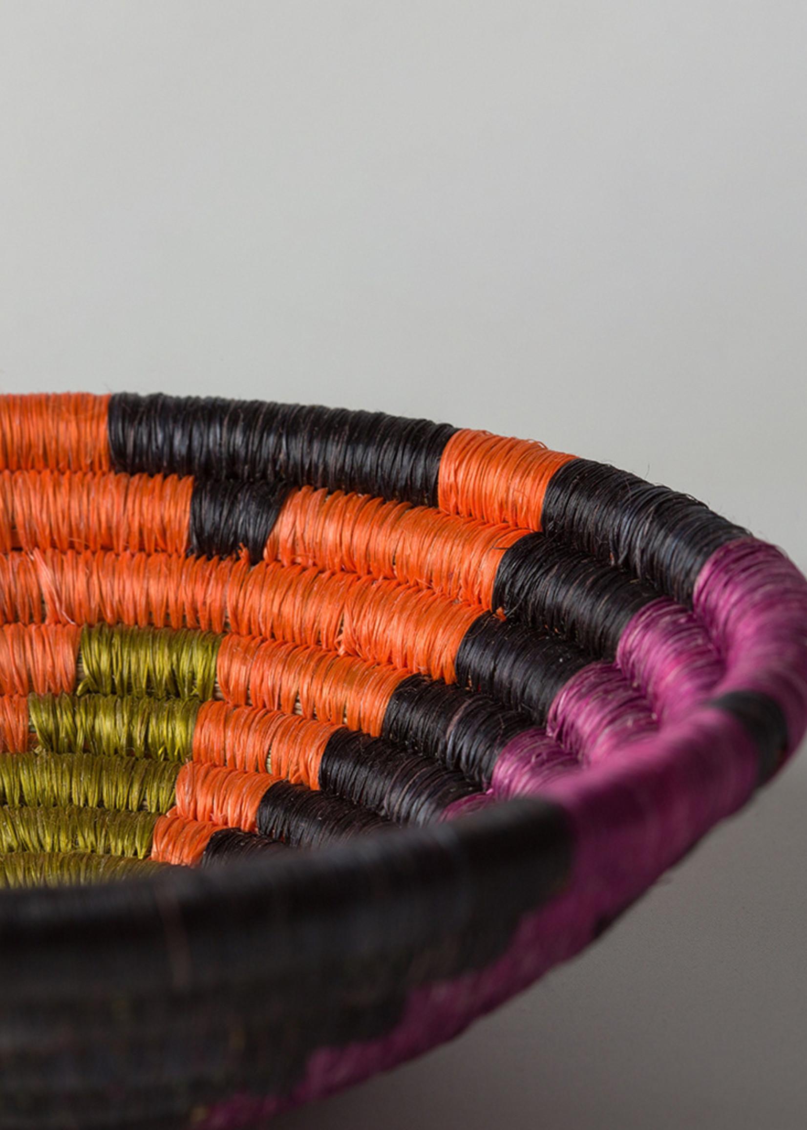 Kazi Small Abstract Black Neon Basket