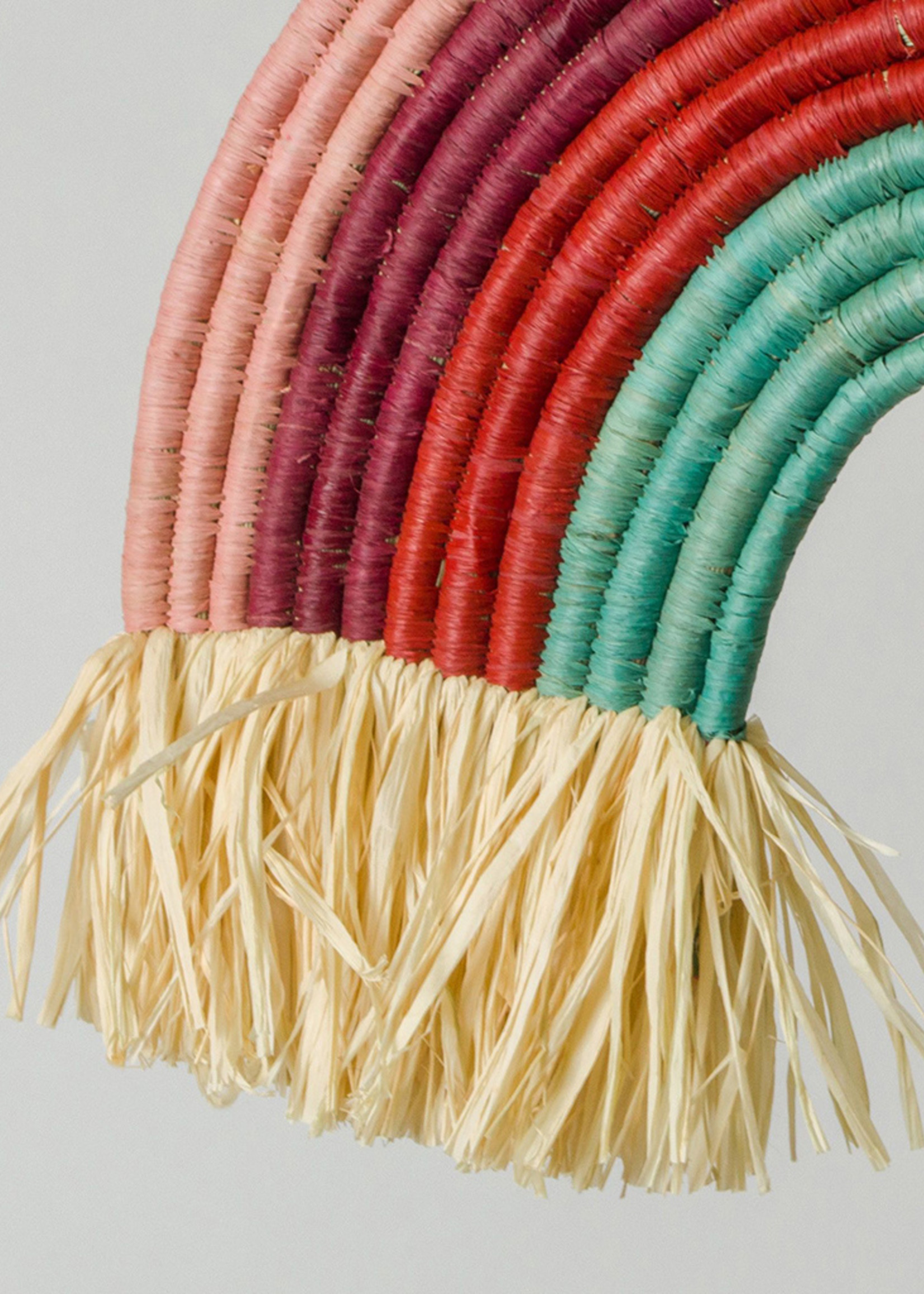 Kazi Raffia Rainbow Shaped Wall Décor