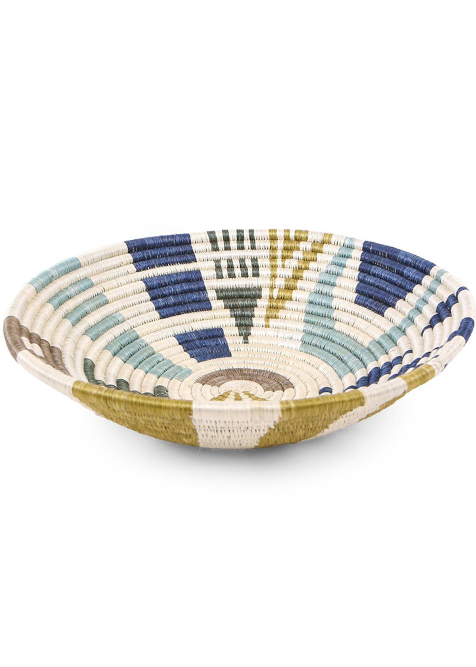 Kazi Large Silver Blue Biko Basket