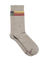 Conscious Step Men's Socks Saves LGBTQ Lives [Gray]