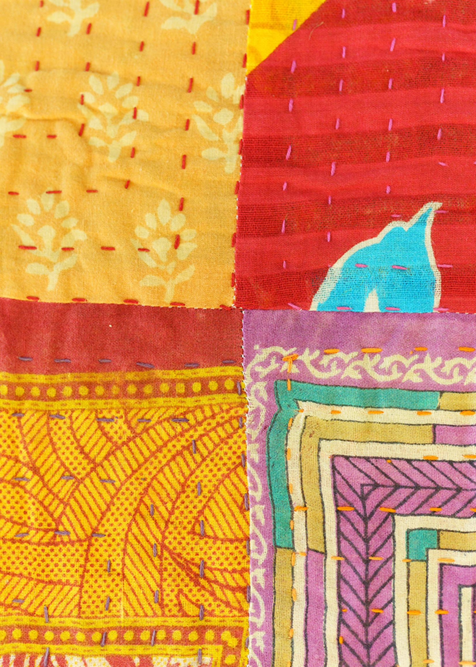 Queen Size Kantha Quilt #19