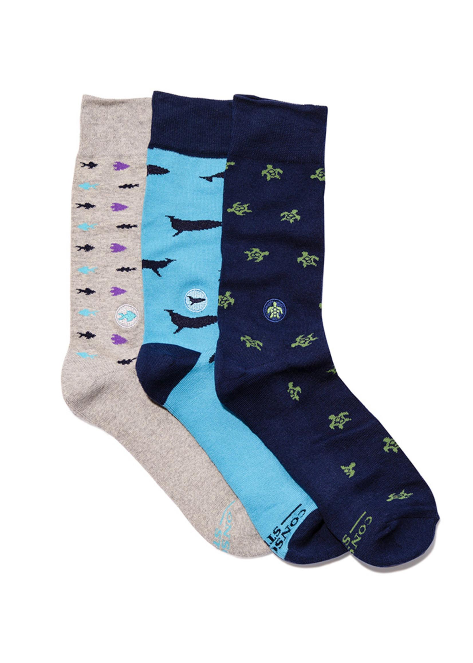 Conscious Step Men's Box of Socks That Protect Ocean Animals