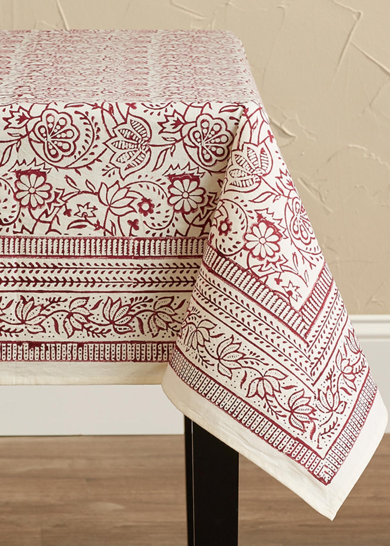 Cranberry Vine Tablecloth
