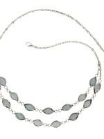 Saffy Handicrafts Soft Shimmer Capiz Leaf Necklace