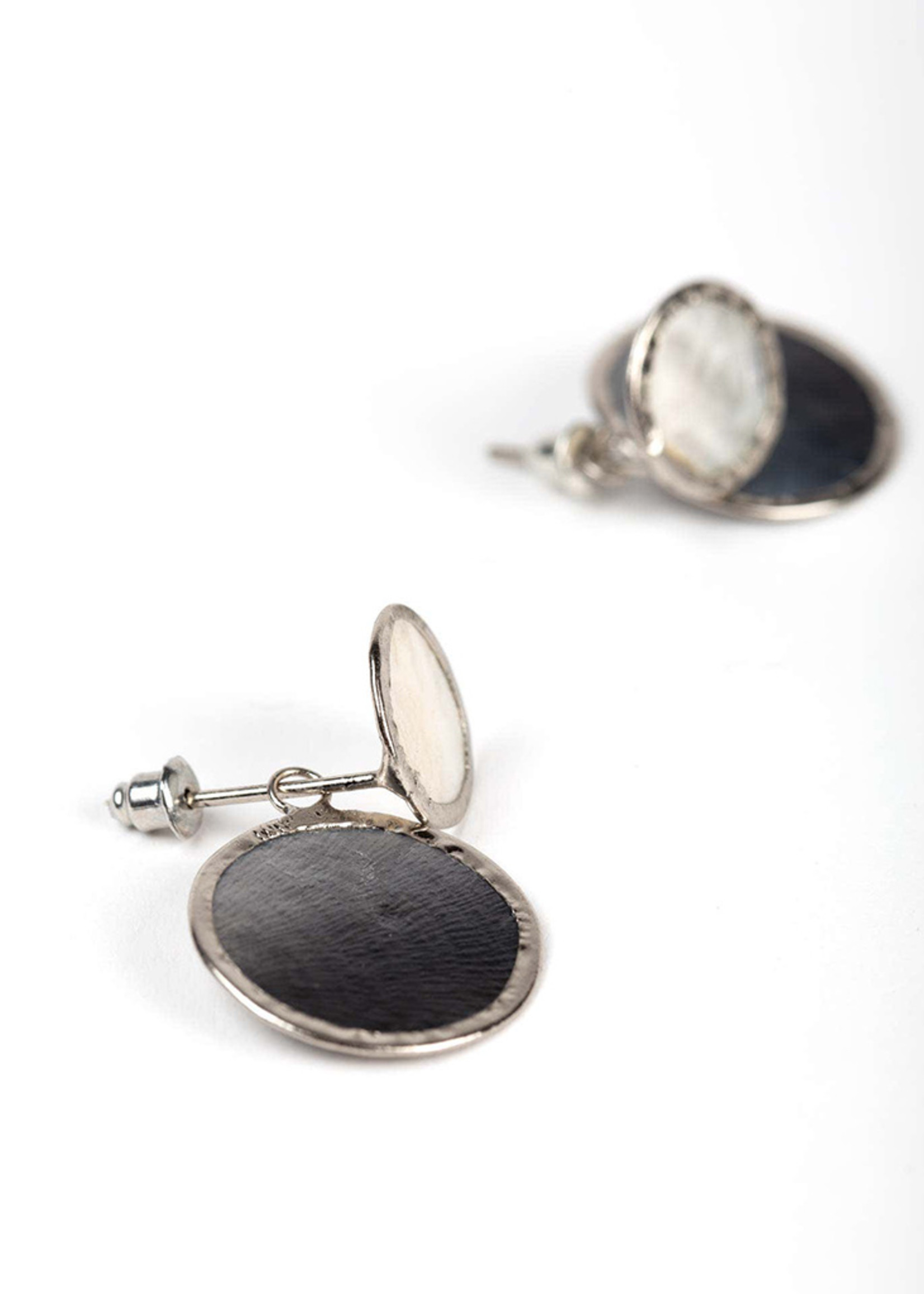 Saffy Handicrafts Convertible Capiz Double Disk Earrings