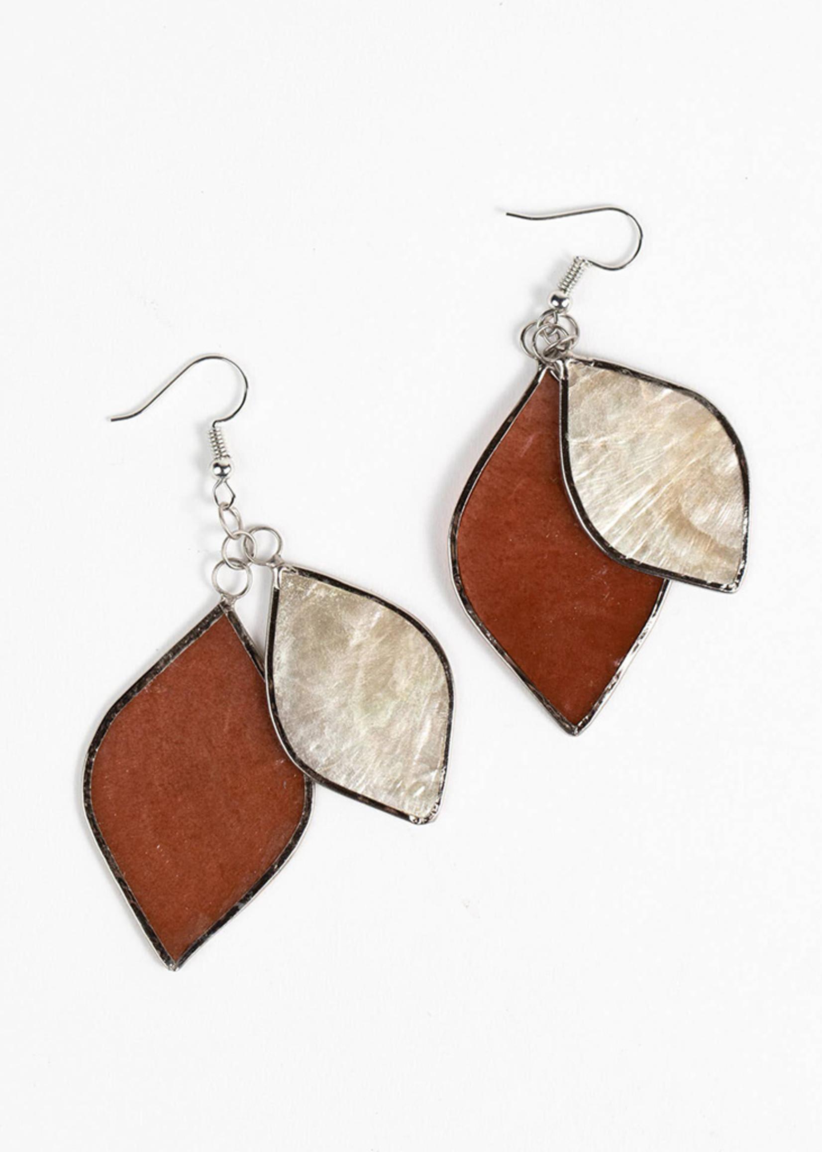 Saffy Handicrafts Golden Hour Capiz Earrings