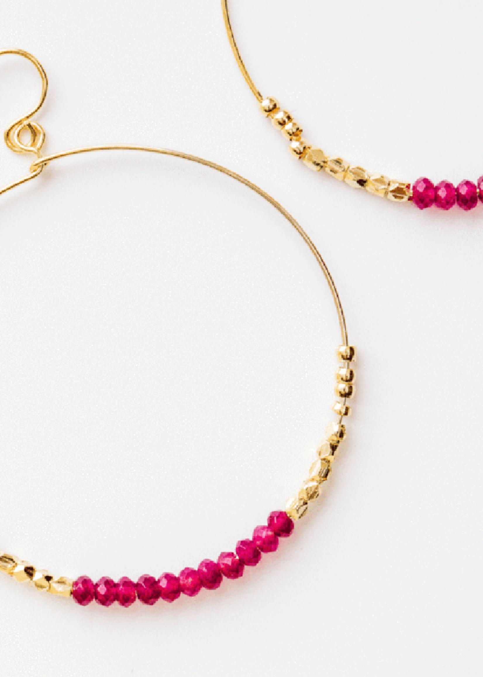 Purpose Jewelry Shimmer Rosette Hoop Earrings