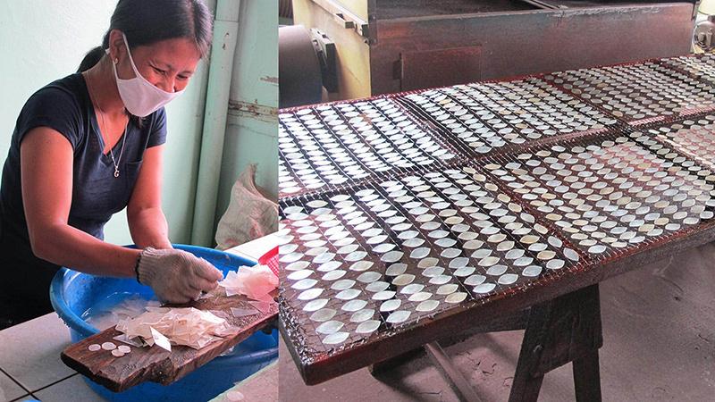 Saffy artisan washing capiz shell