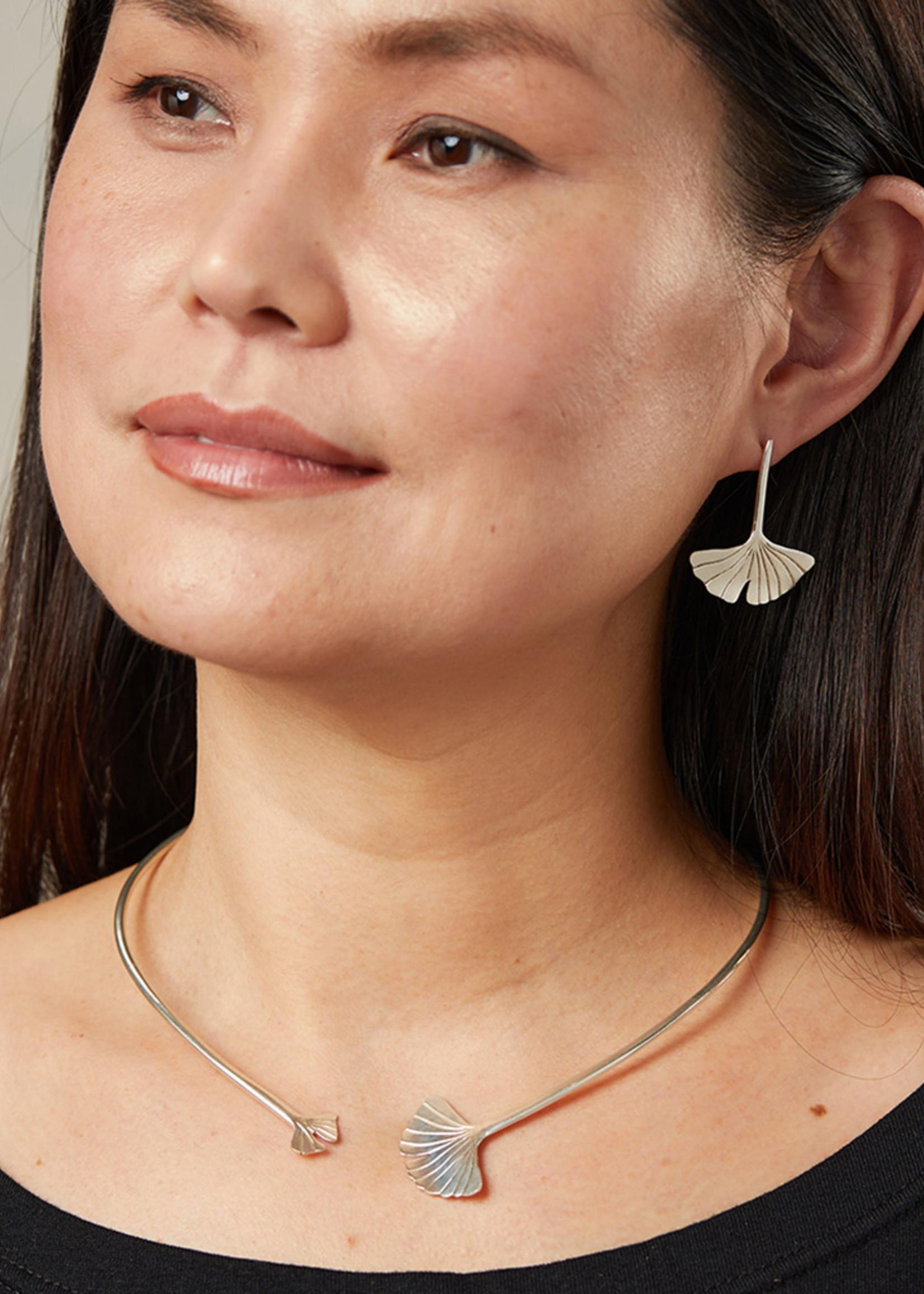 Ginkgo Drop Earrings