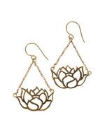 Rajana Graceful Lotus Earrings