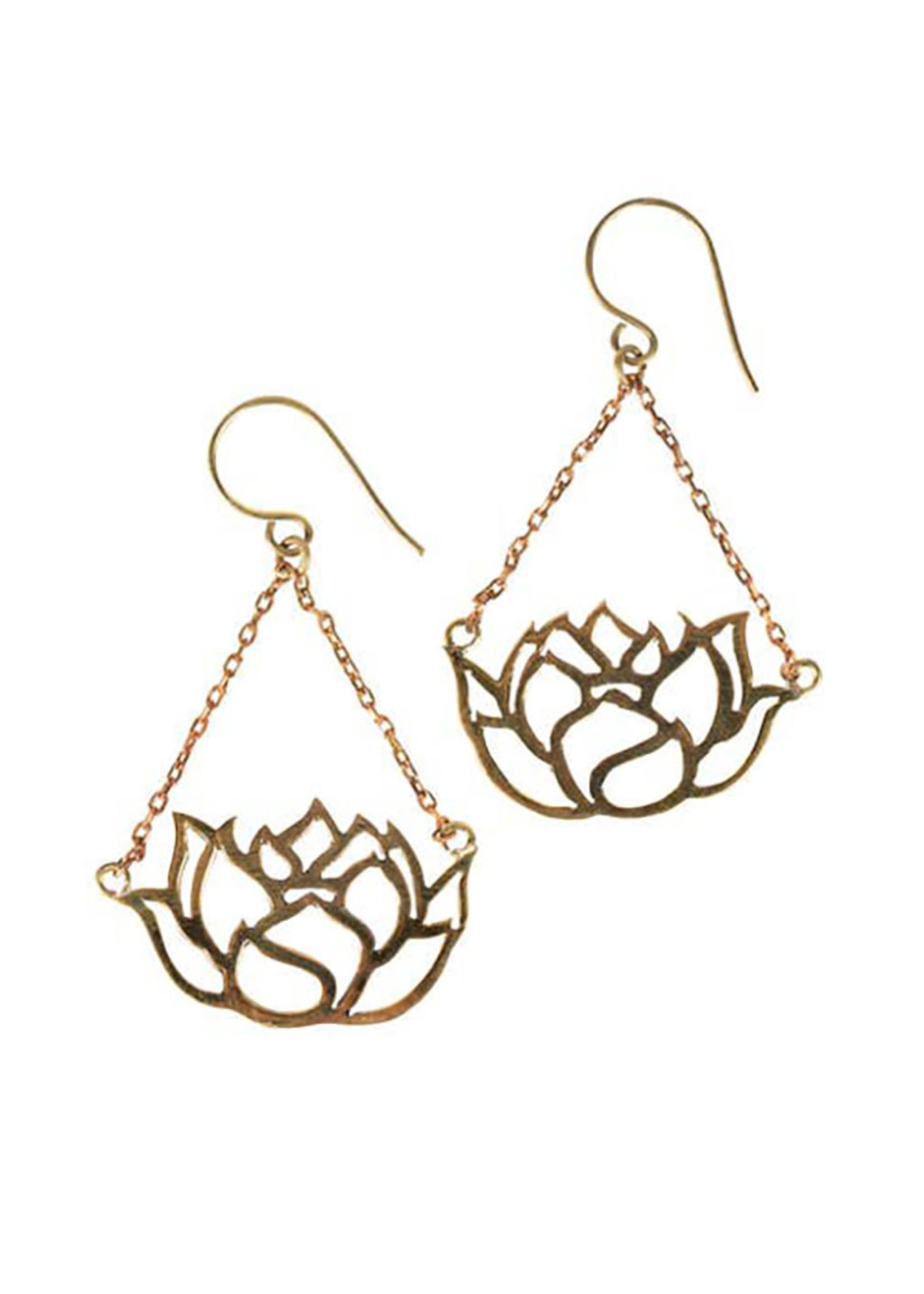 Graceful Lotus Earrings