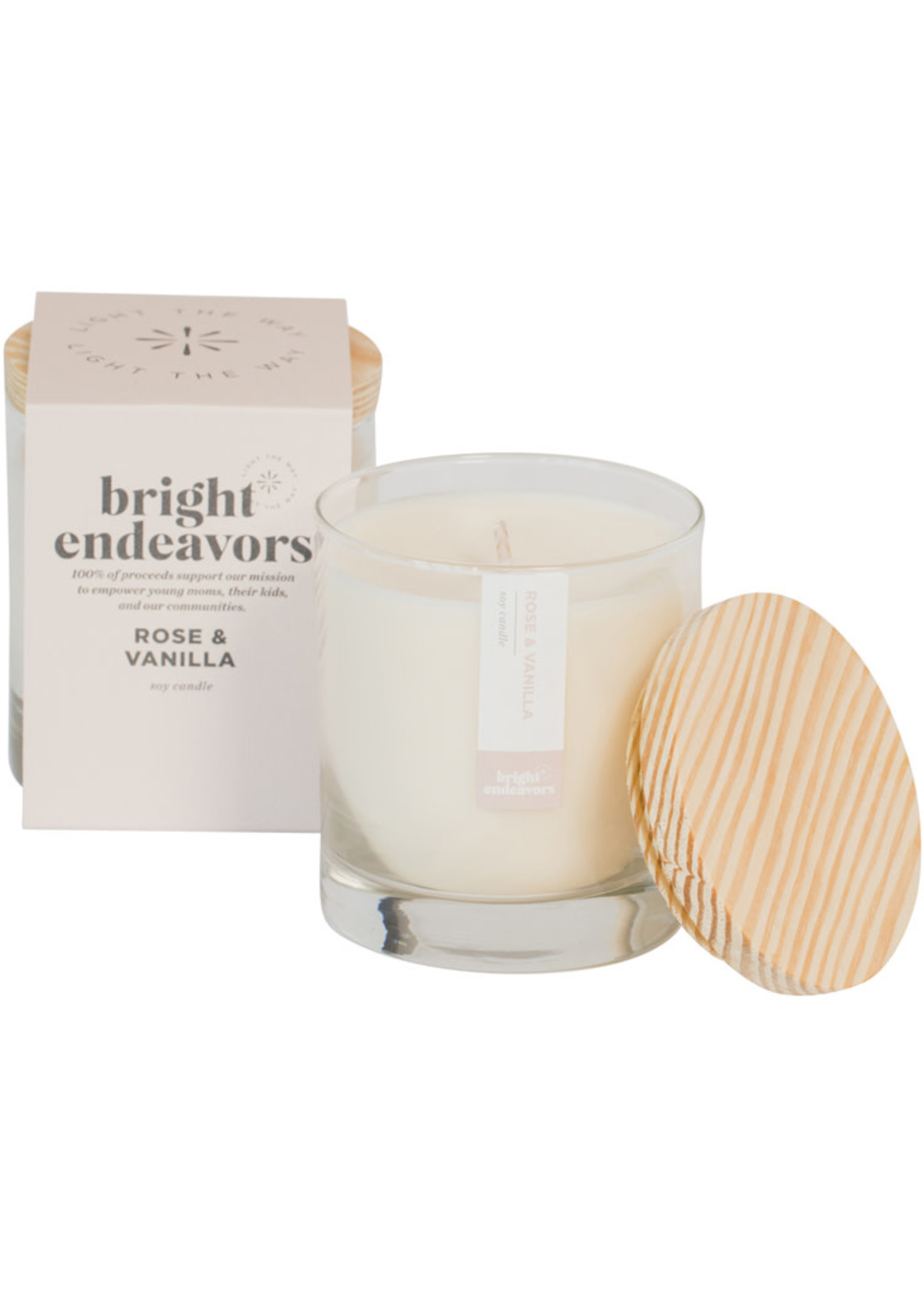 Bright Endeavors Rose & Vanilla Soy Candle