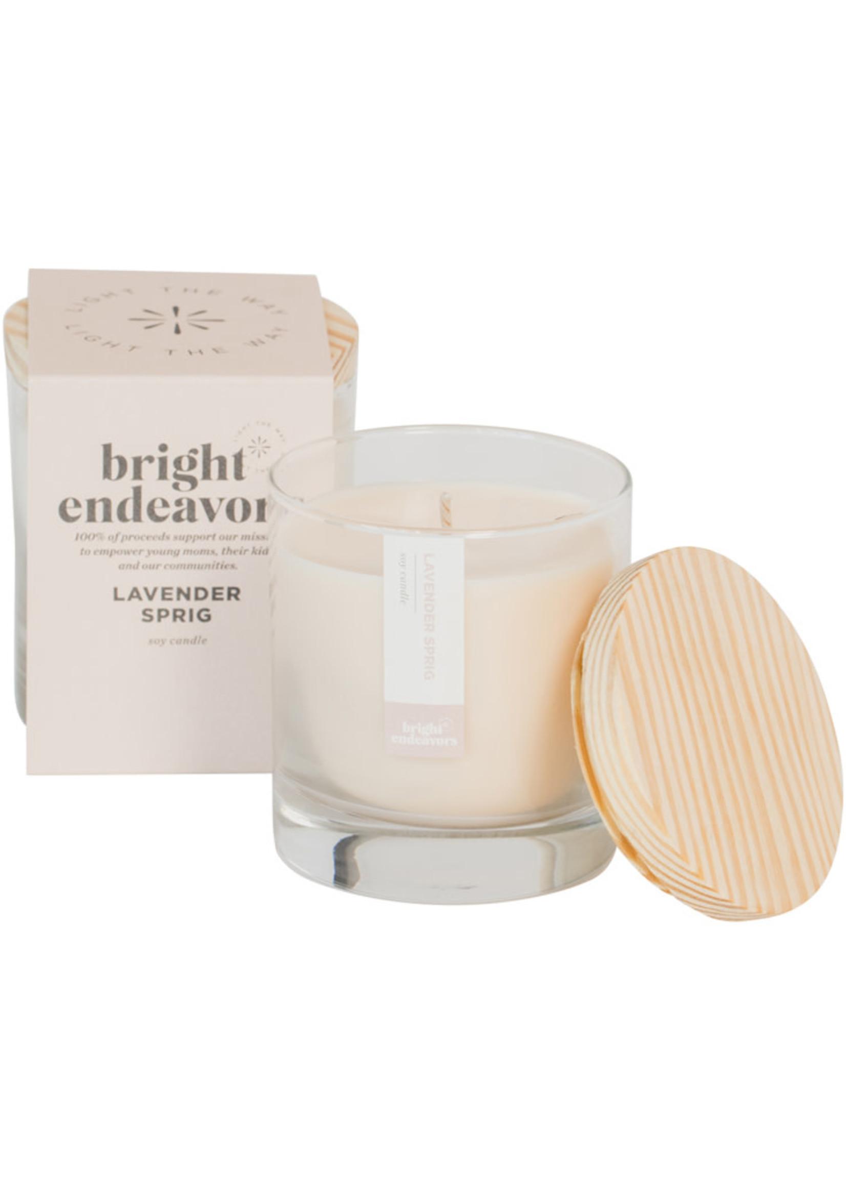 Bright Endeavors Lavender Sprig Soy Candle