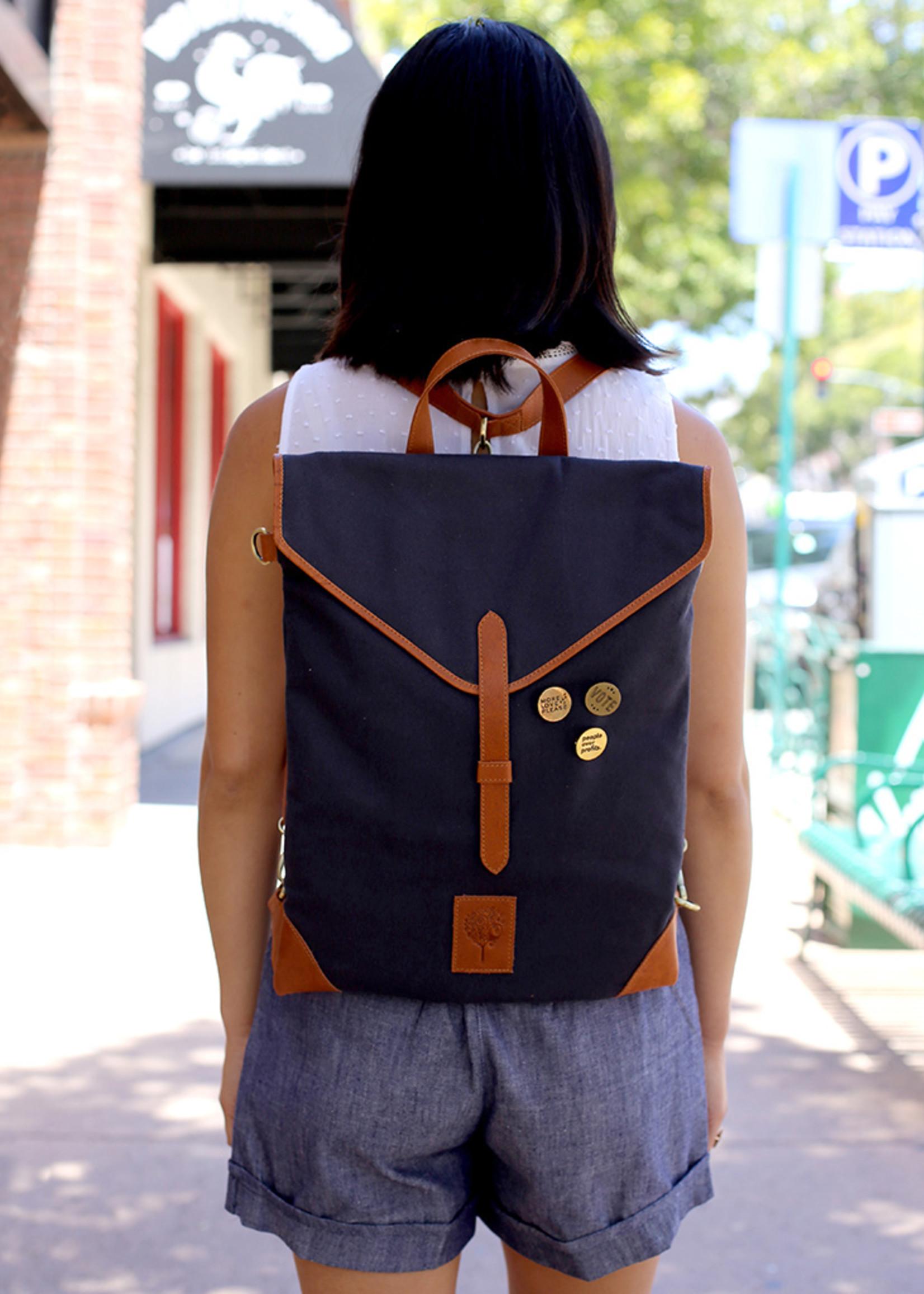Convertible Canvas Backpack Bag