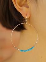 Purpose Jewelry Shimmer Azure Hoop Earrings
