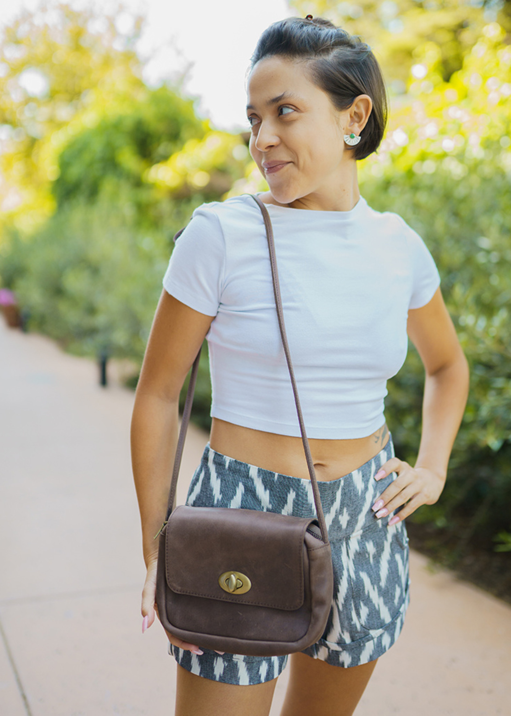 Passion Lilie Charcoal Driftwood Shorts