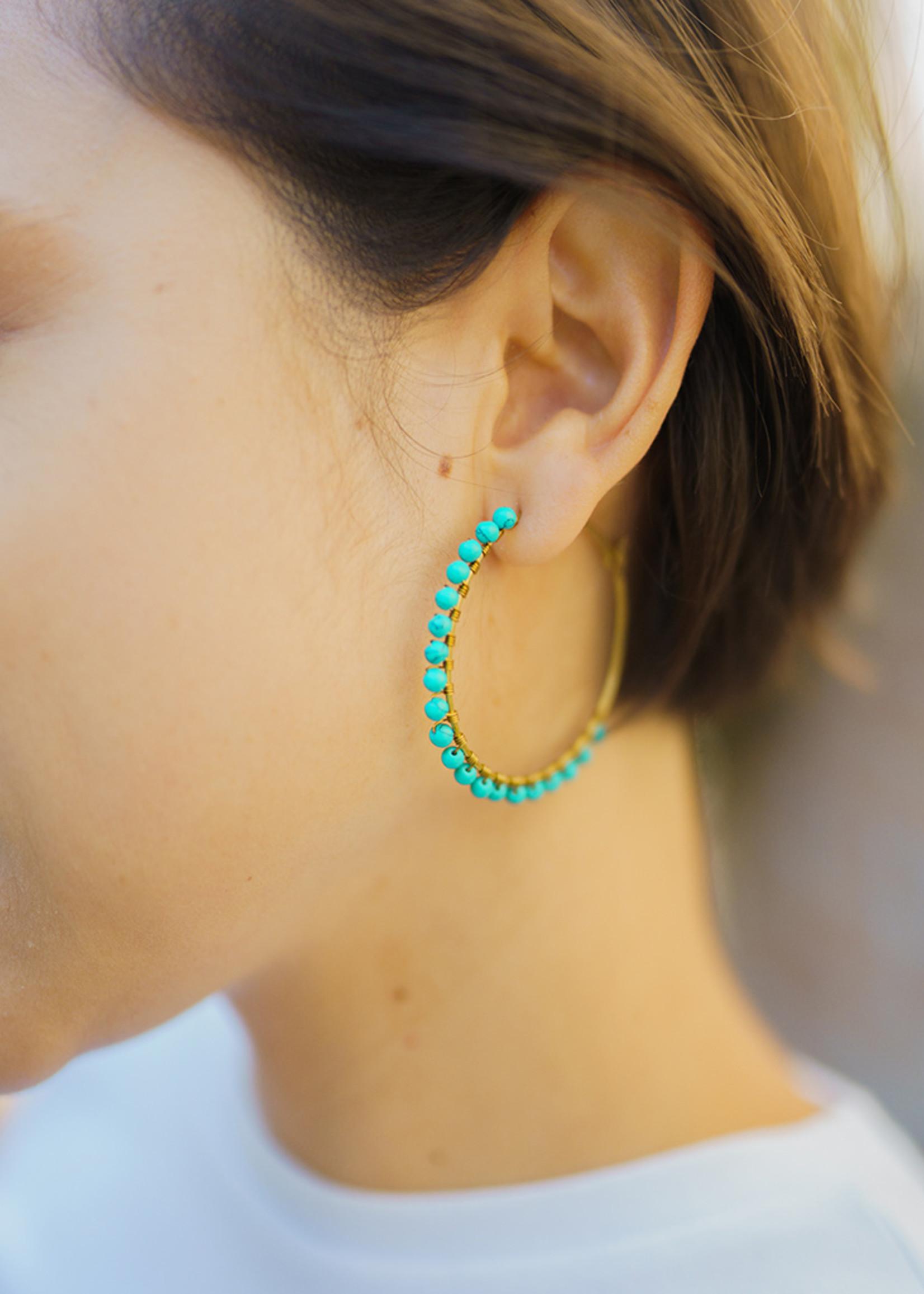 Purpose Jewelry Luna Hoops Earrings