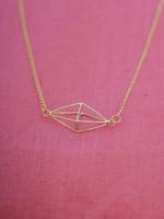 Saffy Handicrafts Capiz Prism Necklace